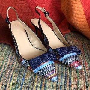 J. Crew Collection Dulci Slingback Kitten Heels